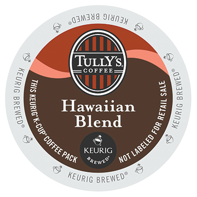 Tully's Hawaiian Blend Extra Bold Coffee K-Cups
