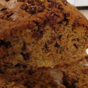 Coffee-spiked chocolate chip banana bread
