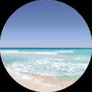 Bermuda pink sand beach and azure sea