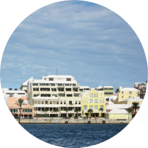 Front Street, Hamilton, Bermuda as seen from the harbour