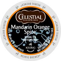 Celestial Seasonings Mandarin Orange Spice K-Cup lid