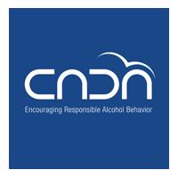 CADA Bermuda white logo on blue background