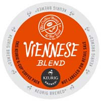 Coffee Bean & Tea Leaf Viennese Blend K-Cup lid