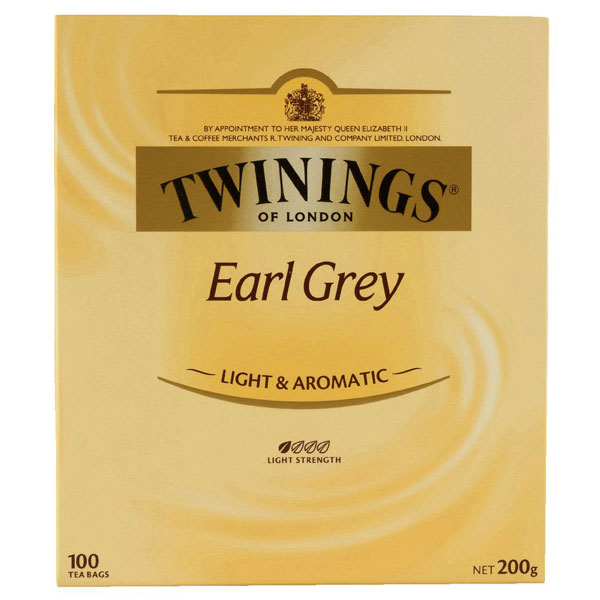 Earl Grey Tea from Twinings (100 pack)